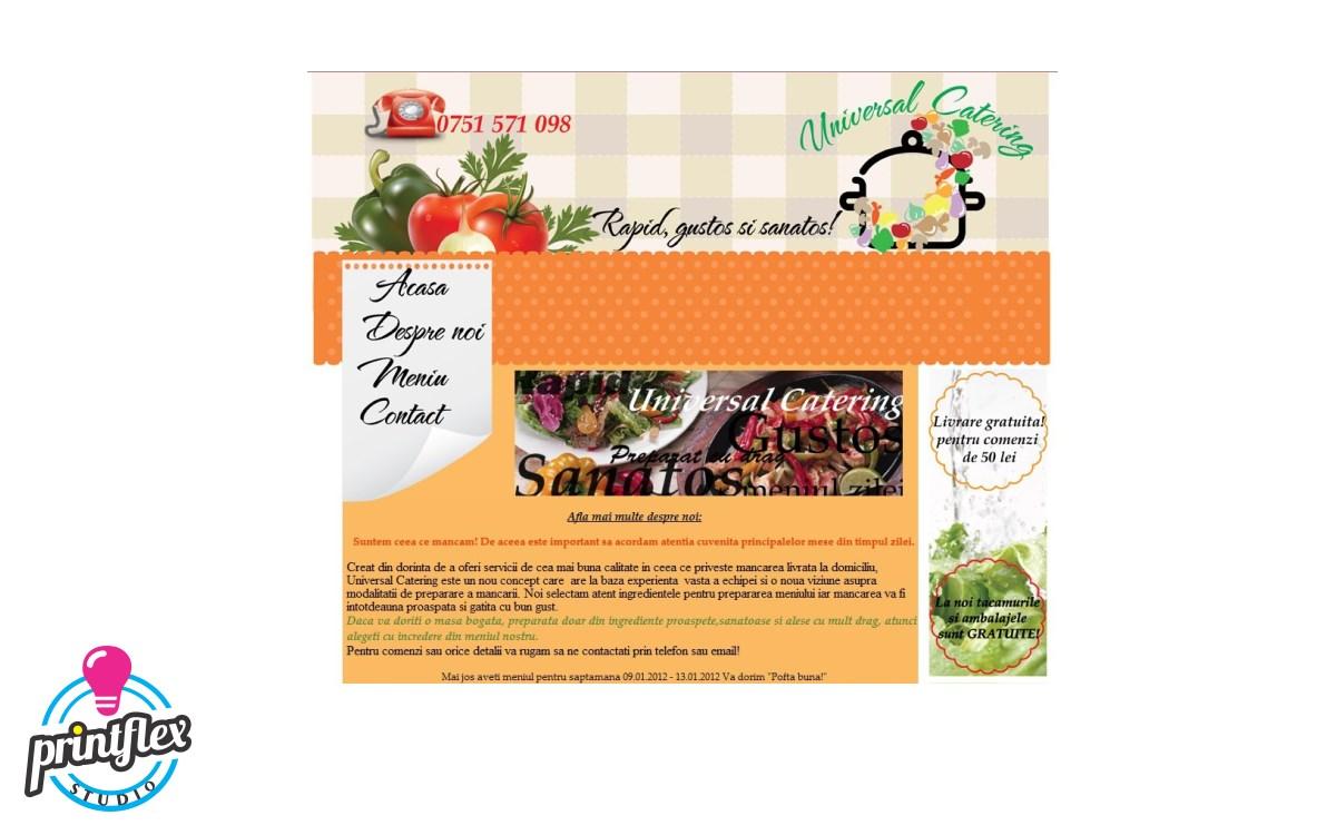 design website universal catering