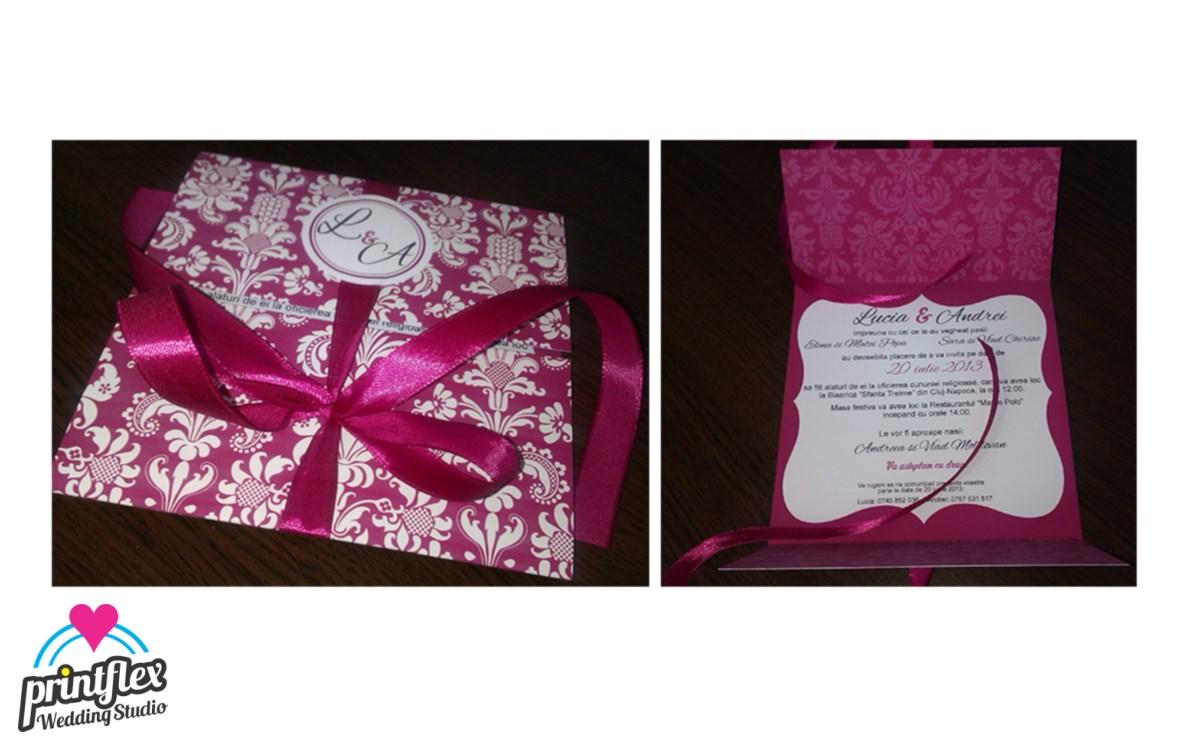 invitatii nunta 2 Royal Pink