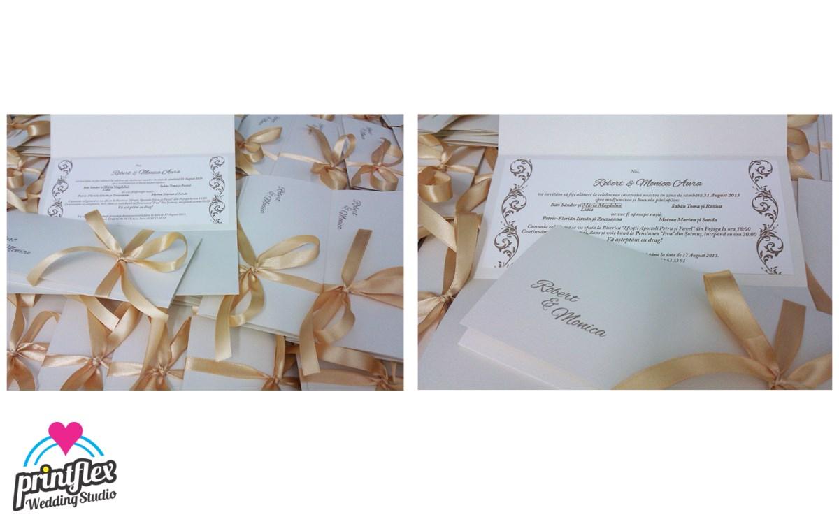 invitatii nunta 7 Glitter and Gold